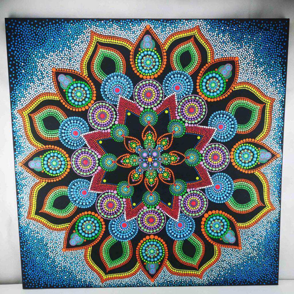 Red Star Dot Mandala Dot-Painting