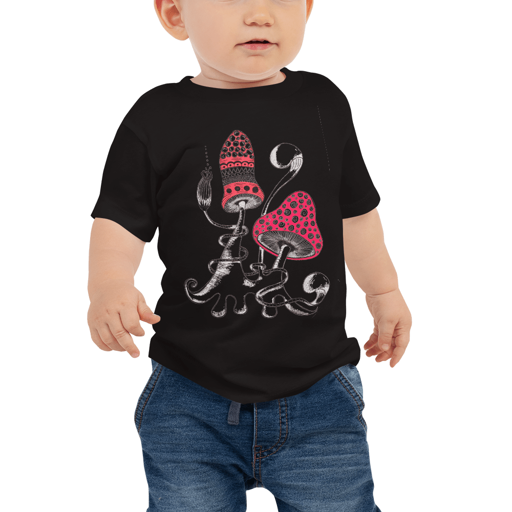 2 Mushrooms Baby Jersey Short Sleeve Tee