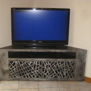 meuble tv modele arty art design acier