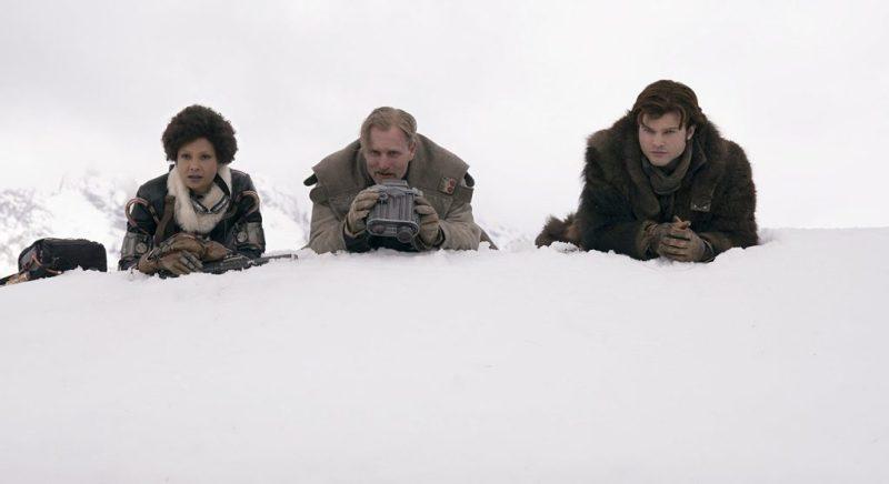 Woody Harrelson, Thandie Newton, and Alden Ehrenreich in Solo A Star Wars Story