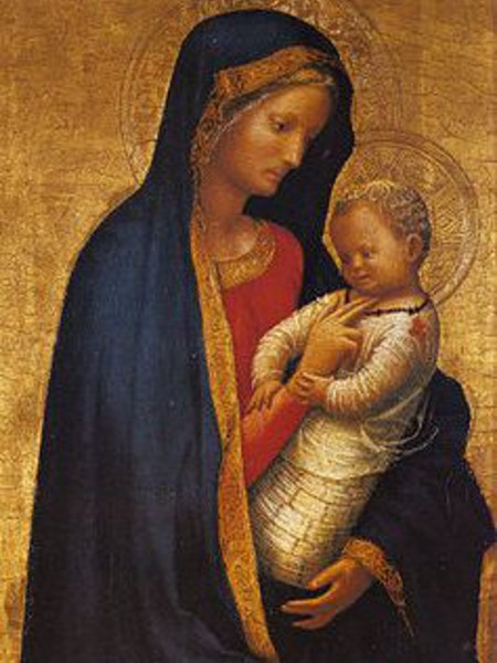 Madonna and Child by the 15th century painter known as Masaccio (Tommaso di ser Giovanni di Mone Cassai)