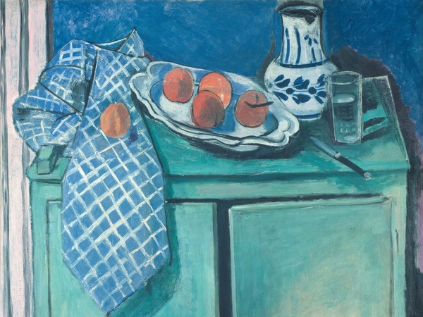 Henri Matisse, Natura morta con credenza verde, 1928. Olio su tela, 81,5x100 cm. Collection Centre Pompidou, Paris Musée national d'art moderne - Centre de création industrielle. Photo : © Centre Pompidou, MNAM- CCI/Philippe Migeat/Dist. RMN-GP © Succession H. Matisse by SIAE 2015