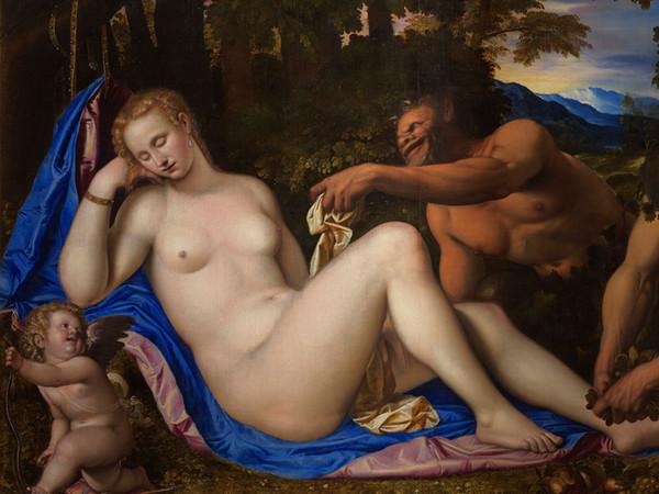 Simone Peterzano, <em>Venere e Cupido con due satiri nel paesaggio</em>, 1570-1573 ca., Milano, Pinacoteca di Brera