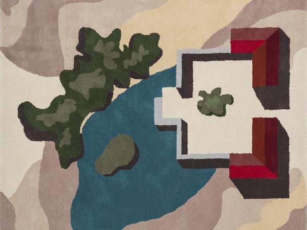 Luca Scacchetti, Quattro, tappeto taftato in lana, New Zeland, cm. 150x150