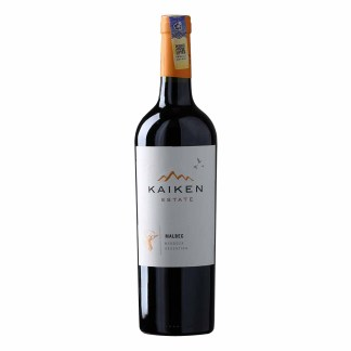 Kaiken Estate Malbec, red wine from Argentina. Intense violet red color. Aromas of red fruits such as plum and blackberry, which are complemented by notes of chocolate and tobacco. Palate reveals extraordinary freshness and tannic softness.