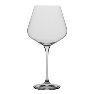 Master Burgundy Wine Glass x 6 pieces. Volume: 860ml Diameter: 7.8cm Height: 25.7cm Brand: Flawless, China Material: Semi-Crystal Glass