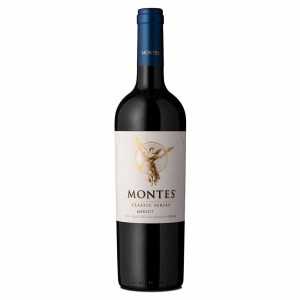 Montes Classic Merlot, Chile. Of an intense carmine-red colour, this Montes Classic Series Merlot has a potent complexity of aromas. The primary notes impact with a pool of aromas derived from the contact with French oak. Notes of dulce de leche, candy, vanilla, and a hint of spice mix together with ripe fruit such as black plum, blackberry, and a little red pepper. The wine is friendly on the palate with medium body, well-assembled tannins, and a nicely balanced acidity. The sensation of fruit and oak combine well on the palate, leading to a long finish.