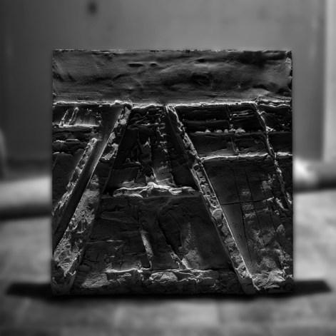 ZARATTINI Luca, BassoRilievo #1, 2014, tecnica mista su tavola (colla da edilizia, polistirolo), cm 80x80x8