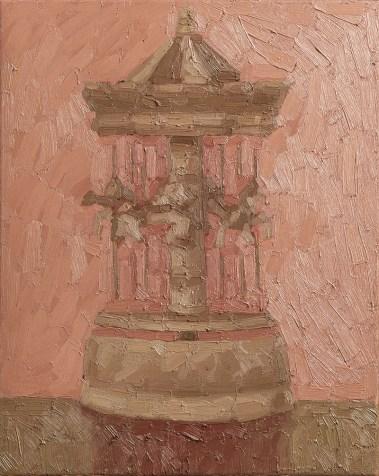 Maurizio Pometti, Carillon, 2016, olio su tela, cm 50x40