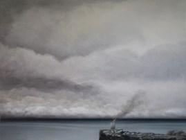 La fuga degli Dei, 2016, cm 117x88, olio su tela