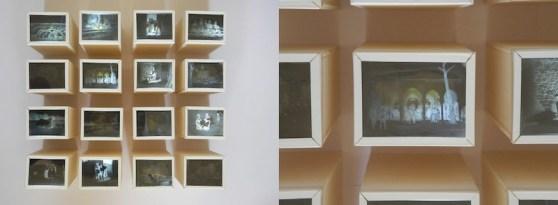 Sedici Scout, 2014, dimensioni lightbox cm 7x9x20, dimensioni totali cm 37x45x20, negativi fotografici, legno, vetro e nastro adesivo