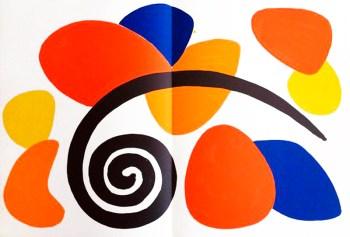 1963 Calder Lithograph, DM52173d, Derriere le Miroir