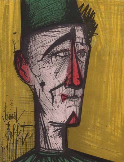 "Bernard Buffet ""JoJo The clown"" Original Lithograph 1968"