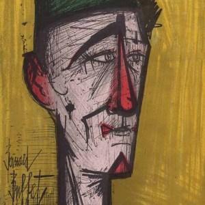 Bernard Buffet, JoJo The clown Original Lithograph 1968