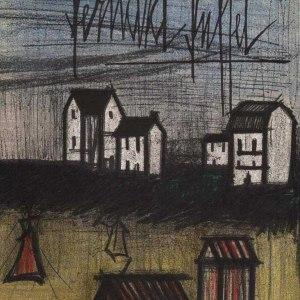 """Bernard Buffet """"Landscape 1""""Bernard Buffet, Landscape 1, original Lithograph 1967"""