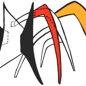 Calder Lithograph DM39141, Derriere le Miroir 1963