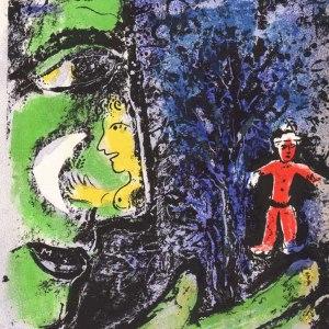 Chagall Lithograph vol 1, Le profile et l'enfant rouge