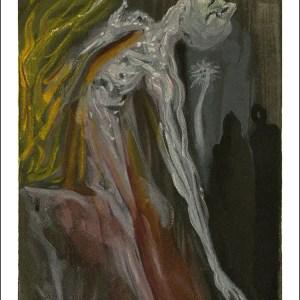 Salvador Dali Woodcut, The furies - Hell 9