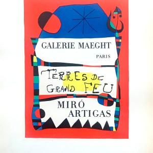 1959 Miro lithograph 53, Terre de grand feu, Art in posters