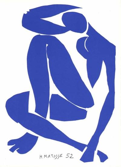 """Henri Matisse """"Nu bleu 4"""" printed in 1983"""