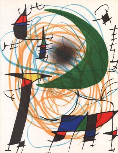 """Miro Original Lithograph """"V1-5"""" 1970"""