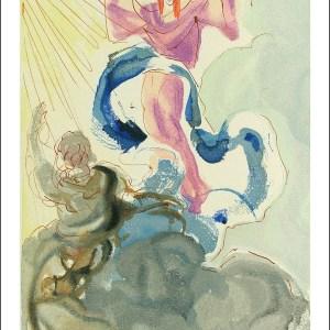 Salvador Dali Woodcut, First sphere - Paradise 3