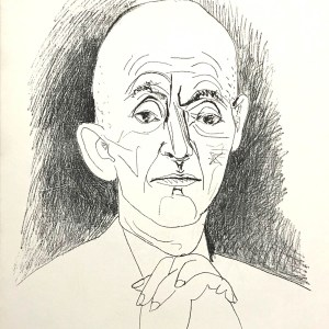 1959 Picasso lithograph, Portrait of Daniel Henry kahnweiler