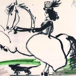 Pablo Picasso Toros y Toreros 11 dated 10/3/59