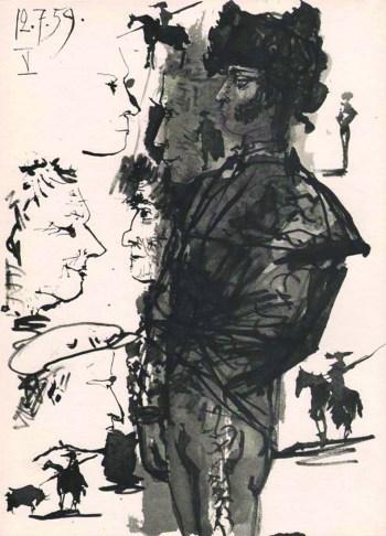 Pablo Picasso Toros Y Toreros 5 dated 12/7/59