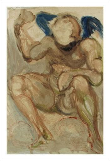 Salvador Dali Woodcut, Envy - Purgatory 15