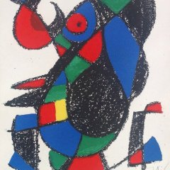 Joan Miro Signed & numbered 51 / 150 Original lithograph