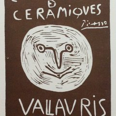 "Picasso 93 Lithograph ""Expo Ceramiques 1958""1959 Mourlot Art in posters"