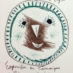 "Picasso 90 Lithograph ""Expo Ceramiques"" 1959 by Mourlot"