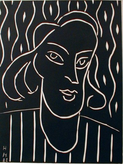 Matisse Engraving Linoleum dated 1938 on verso - XX Siecle 1970