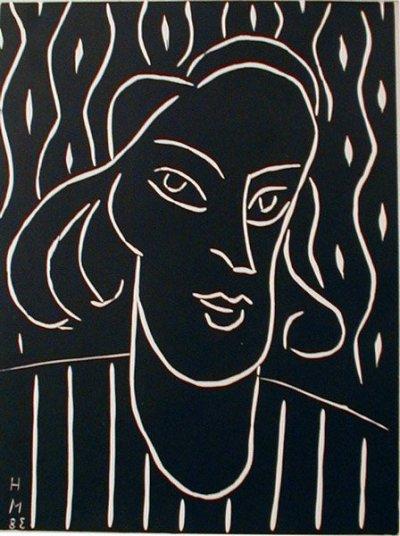 Matisse Engraving Linoleum dated 1938 on verso - XX Siecle 1970