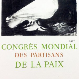 Picasso Lithograph 60, Congress mondial, Art in posters
