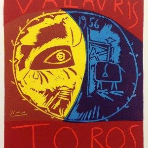 Picasso Lithograph 79, Toros Vallaris, Mourlot, 1959