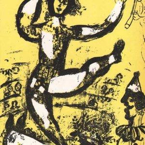 "Chagall ""Le cirque""Original lithograph V1 Mourlot 1960"