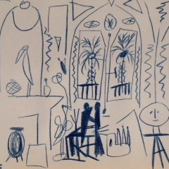 Pablo Picasso Sketchbook Lithograph 3 dated 15/11/1955
