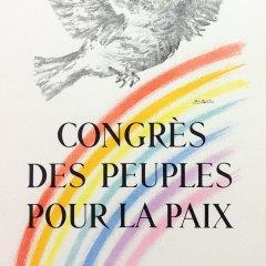 "Picasso 67 Lithograph ""Congres la paix""1959 Mourlot Art in posters"