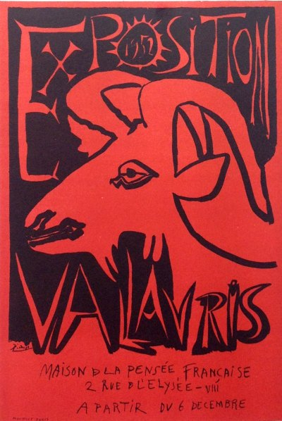 """Picasso 68 """"Exposition vallauris 1952"""" printed 1959 by Mourlot"""