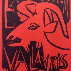 "Picasso 68 ""Exposition vallauris 1952"" printed 1959 by Mourlot"