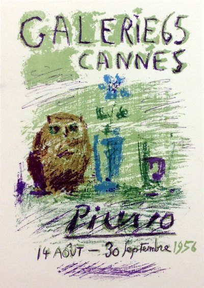 """Picasso 78 """"expo Picasso-gallery-65-Cannes"""" 1959 by Mourlot"""