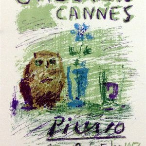 Picasso Lithograph 78, Galerie 65 Cannes, Art in posters