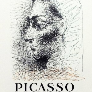 Picasso Lithograph 82, Half siecle livres illustrees, 1959