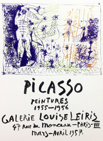 Picasso Lithograph 84, Peintures, Art in posters