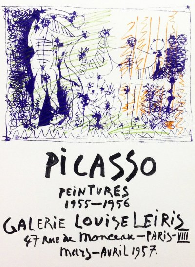 """Picasso 84 """"peintures-1955-1956"""" printed 1959 by Mourlot"""