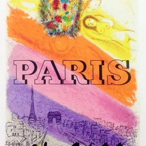 Chagall Lithograph 21, Paris, Art in posters