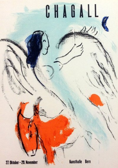 "Chagall 25 "" kunsthalle Bern 1957"" Art in posters Mourlot 1959"