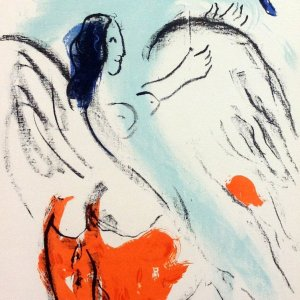 Chagall Lithograph 25, Kunsthalle Bern 1957